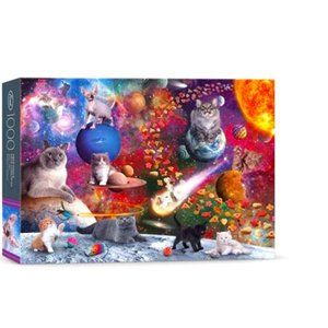 PUZZLE 1000 Piece NORWOOD Galaxy Cats